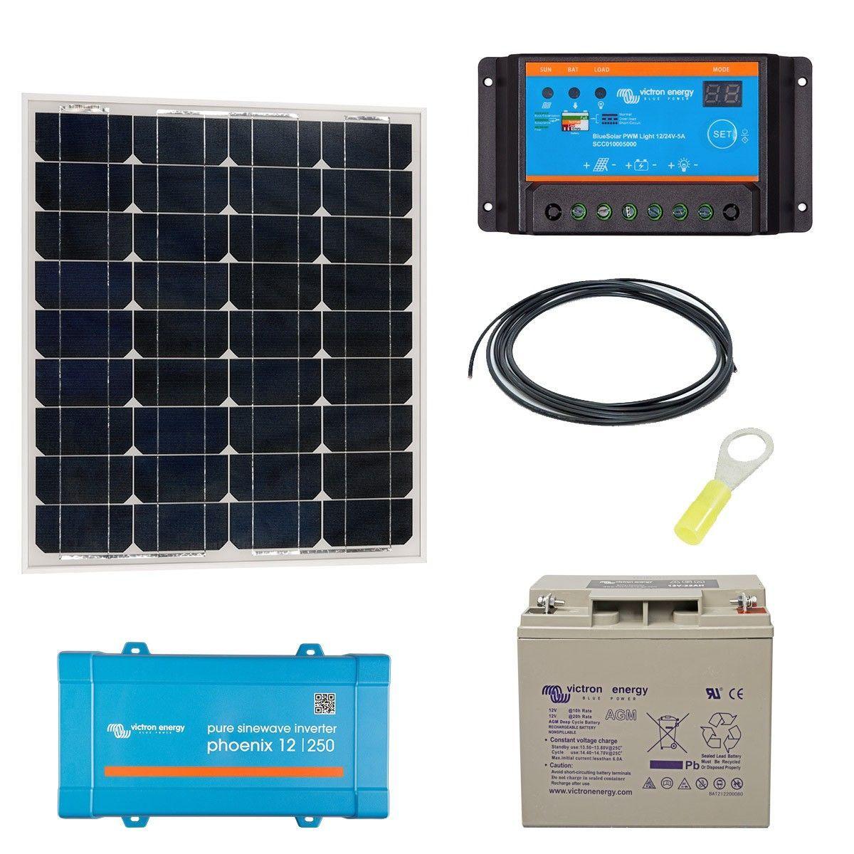 Kit solaire autonome 50w convertisseur 230v - Kit solaire autonome 1000w ...