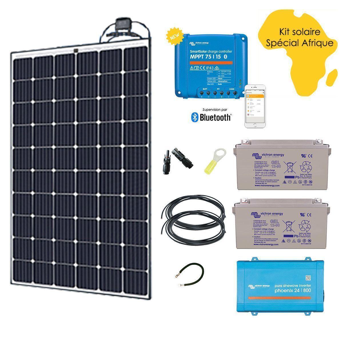 kit solaire 290w afrique premium. Black Bedroom Furniture Sets. Home Design Ideas