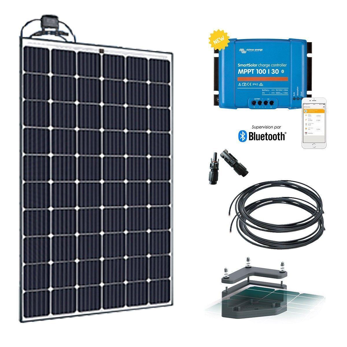 kit solaire camping car 12v 280w antichoc. Black Bedroom Furniture Sets. Home Design Ideas