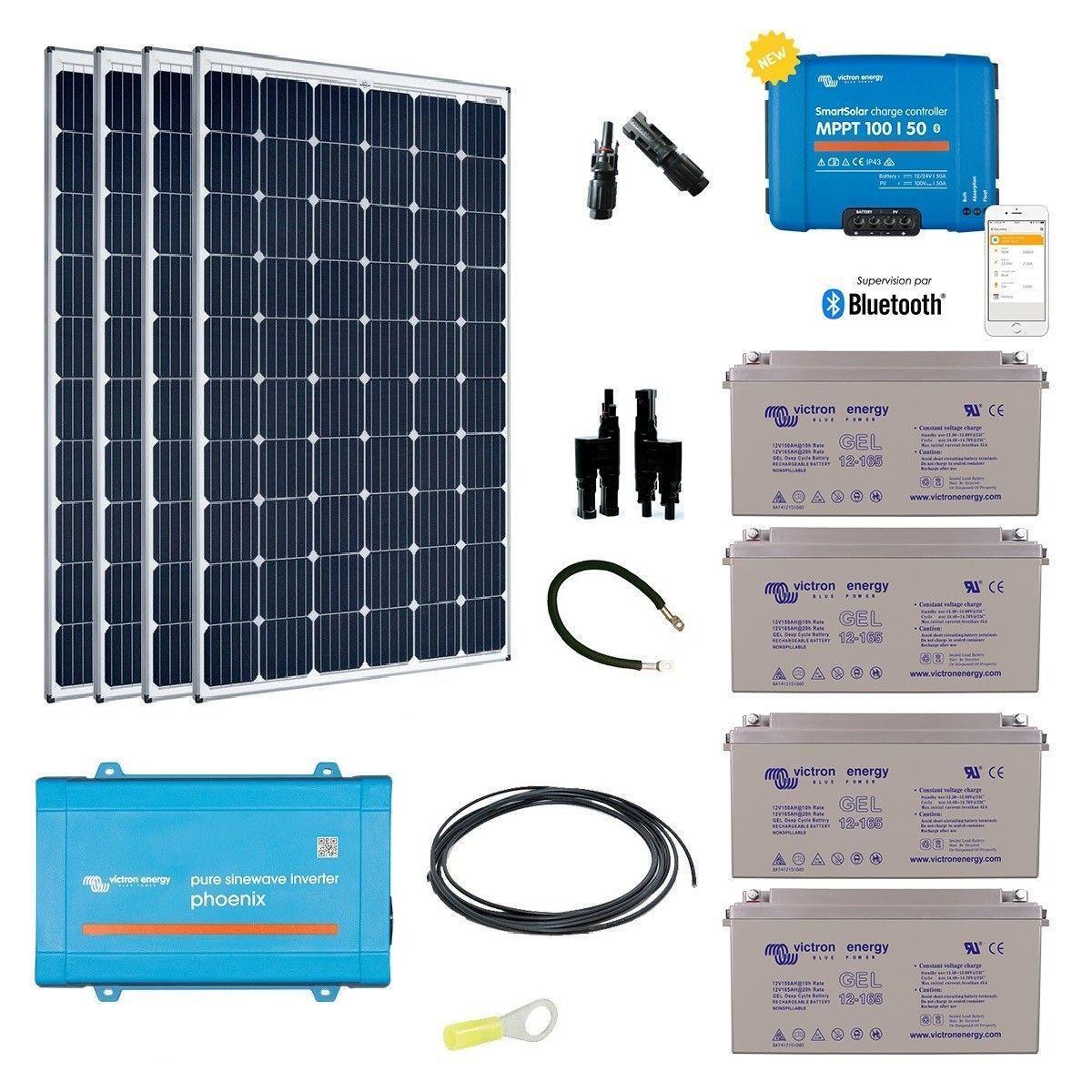 kit solaire autonome 1200w convertisseur 230v. Black Bedroom Furniture Sets. Home Design Ideas