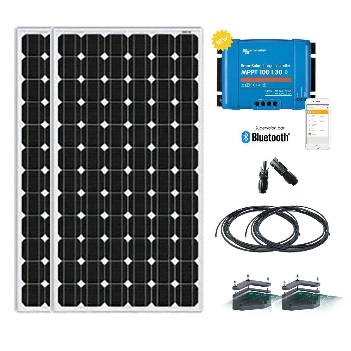 Kit solaire camping-car 12V-300W (2x150W) 81f0de8dd5c6