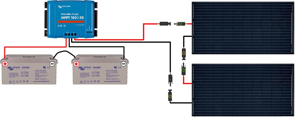 guide de montage kit solaire autonome 24v 500w 600w convertisseur 230v. Black Bedroom Furniture Sets. Home Design Ideas