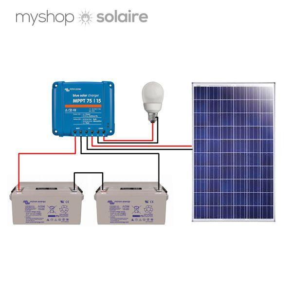 guide montage kit solaire autonome 24v 250w. Black Bedroom Furniture Sets. Home Design Ideas