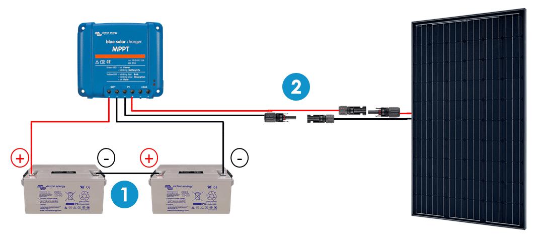 4.1  Branchement du régulateur sur un parc batterie en 24V b95fb110756f
