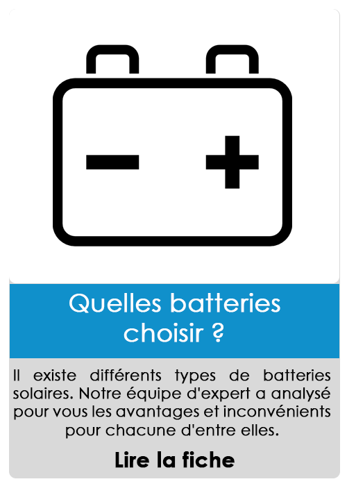 Quelle batteries choisir ?