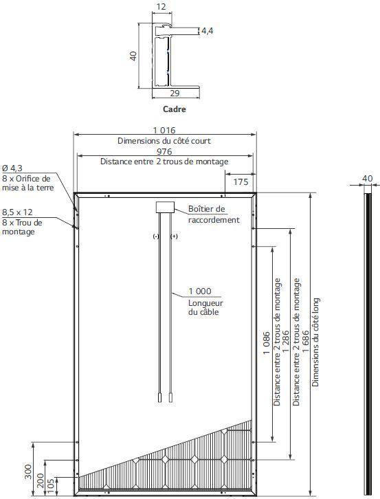 panneau solaire 330w neon 2 lg. Black Bedroom Furniture Sets. Home Design Ideas