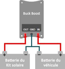 Schéma de câblage du Buck Boost 25A