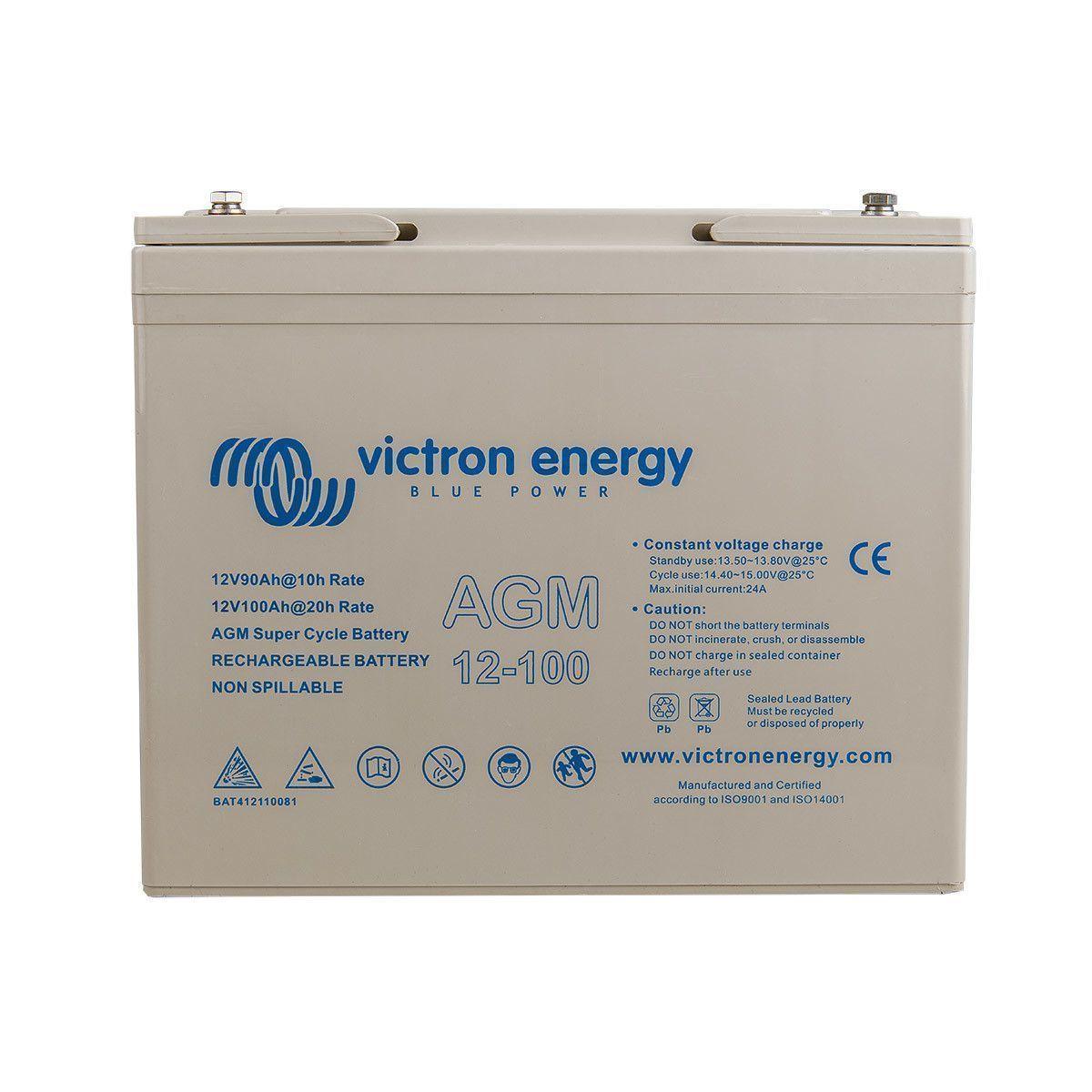 batterie agm 12v 100ah super cycle victron energy. Black Bedroom Furniture Sets. Home Design Ideas