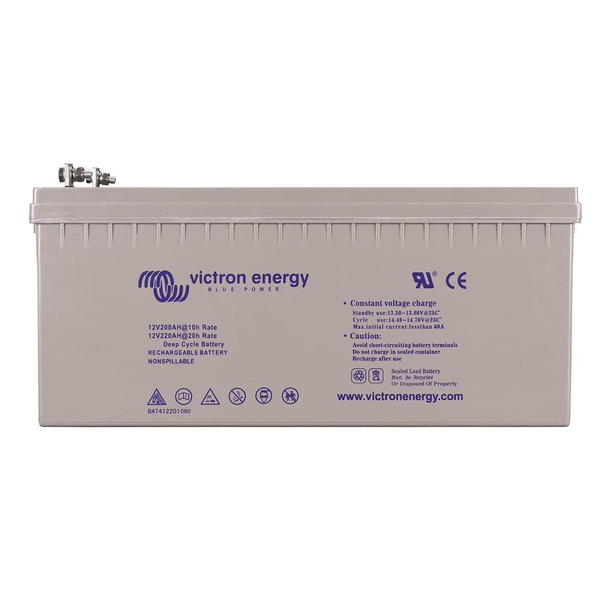 batterie solaire 220ah gel 12v victron energy. Black Bedroom Furniture Sets. Home Design Ideas