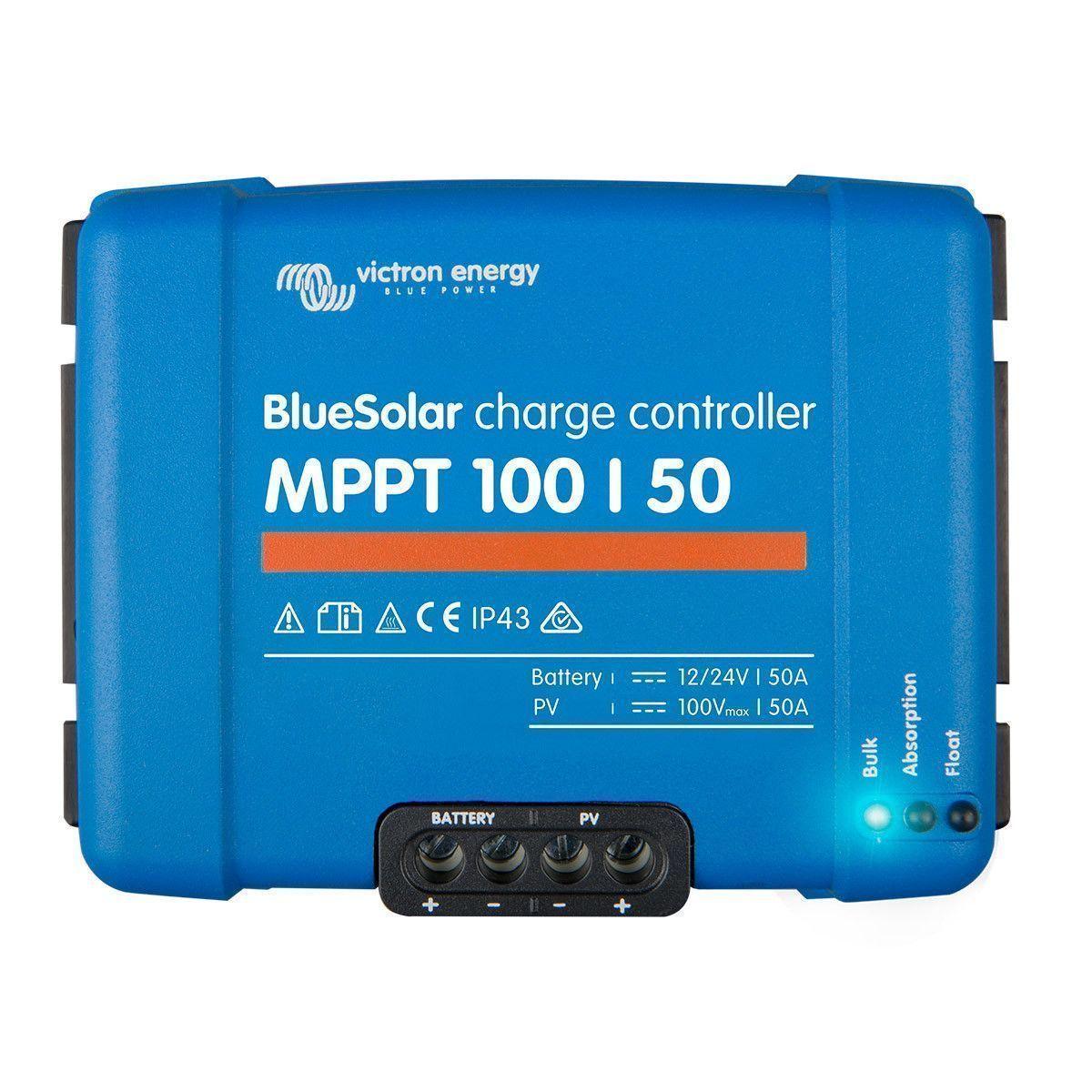 Regulateur de charge solaire mppt 100//50 12//24v victron energy