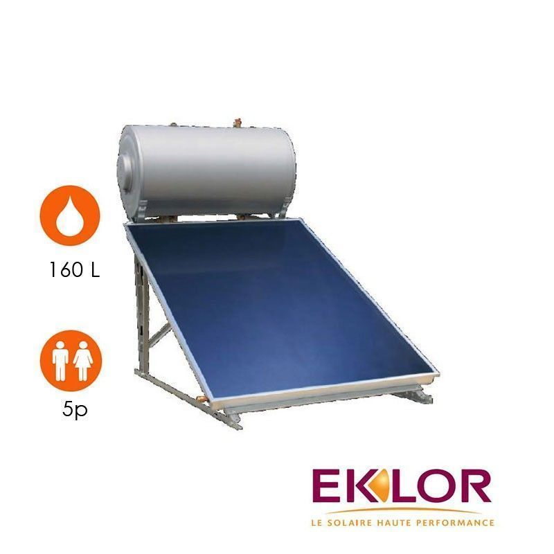 Chauffe eau solaire 1 capteur ballon 200 litres eklor - Temps de chauffe ballon eau chaude 200 litres ...