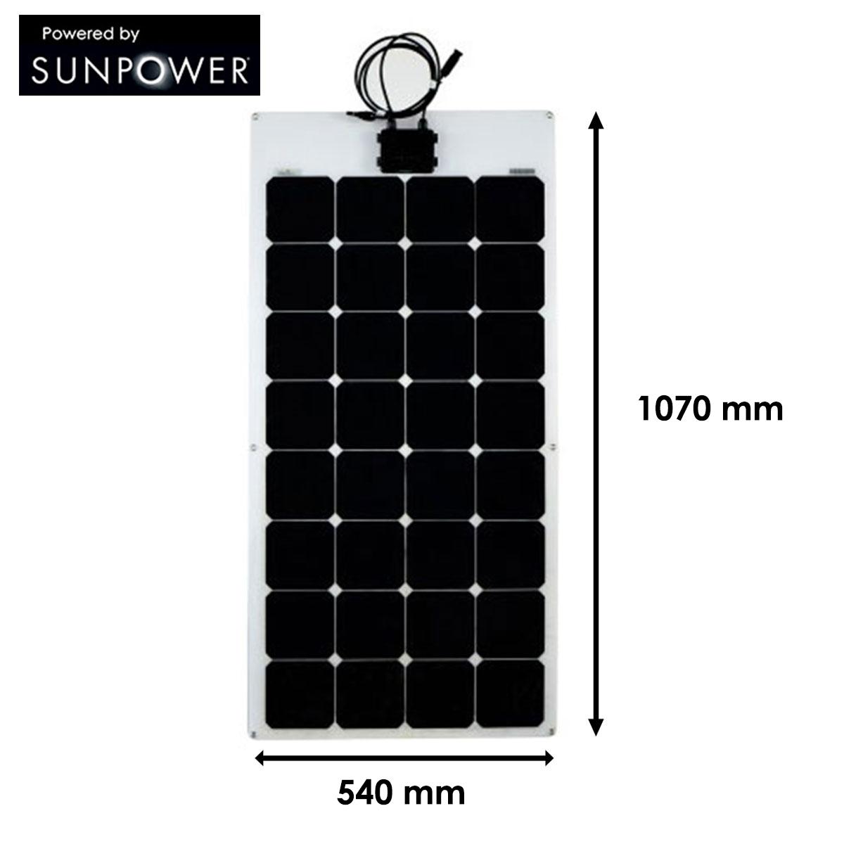 panneau solaire 110w souple semi flexible cellules sunpower back contact. Black Bedroom Furniture Sets. Home Design Ideas