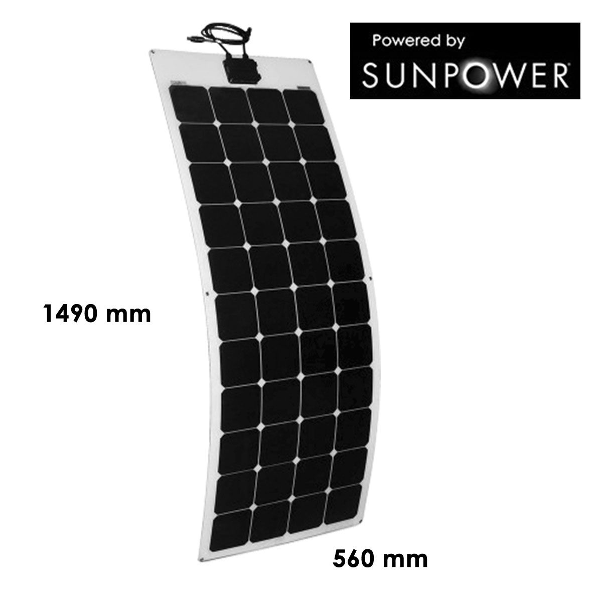 panneau solaire 140w semi flexible cellules sunpower back contact. Black Bedroom Furniture Sets. Home Design Ideas