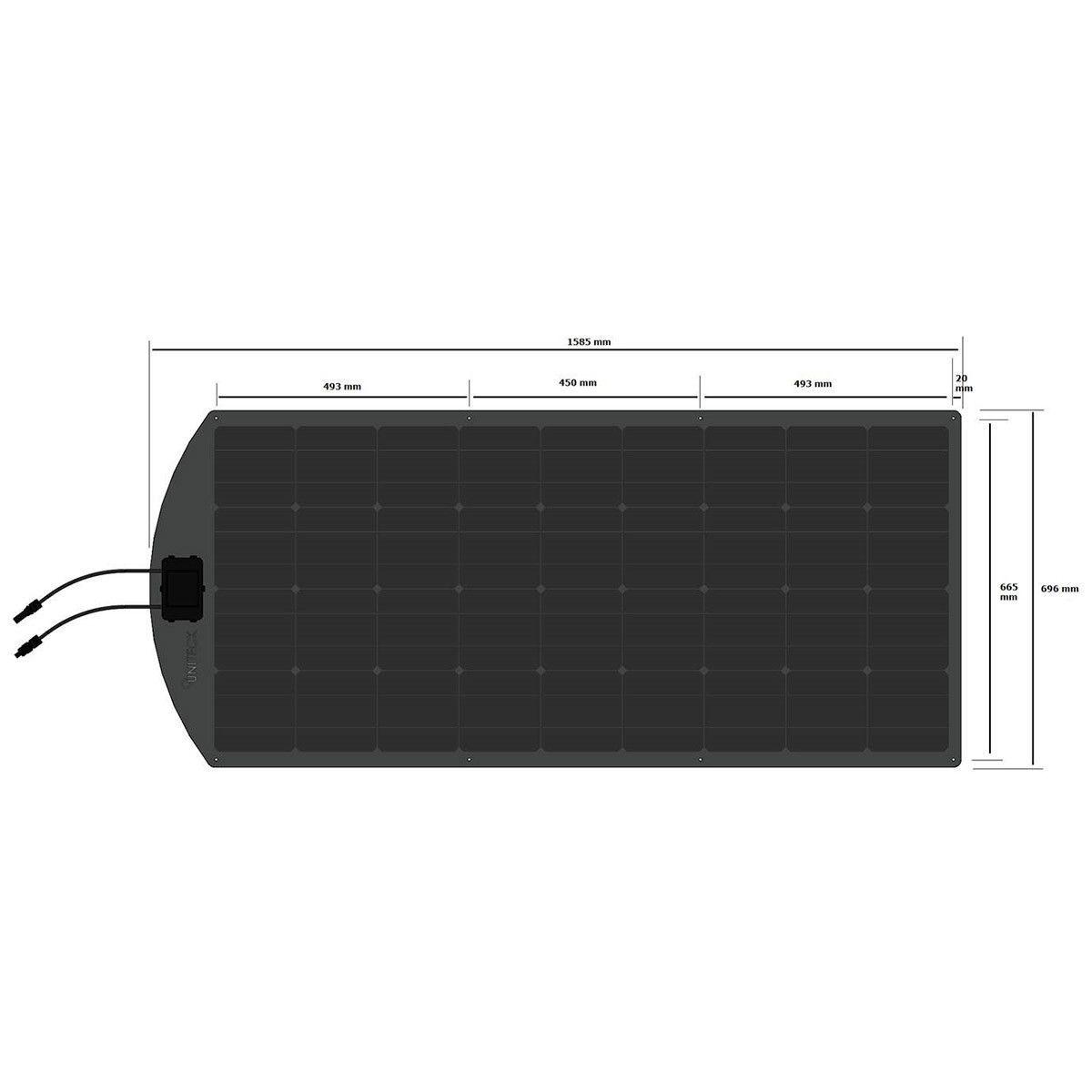panneau solaire flexible unisun mf monocristallin uniteck. Black Bedroom Furniture Sets. Home Design Ideas