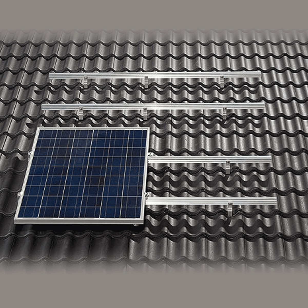 fixation toiture variosole 8 panneaux. Black Bedroom Furniture Sets. Home Design Ideas