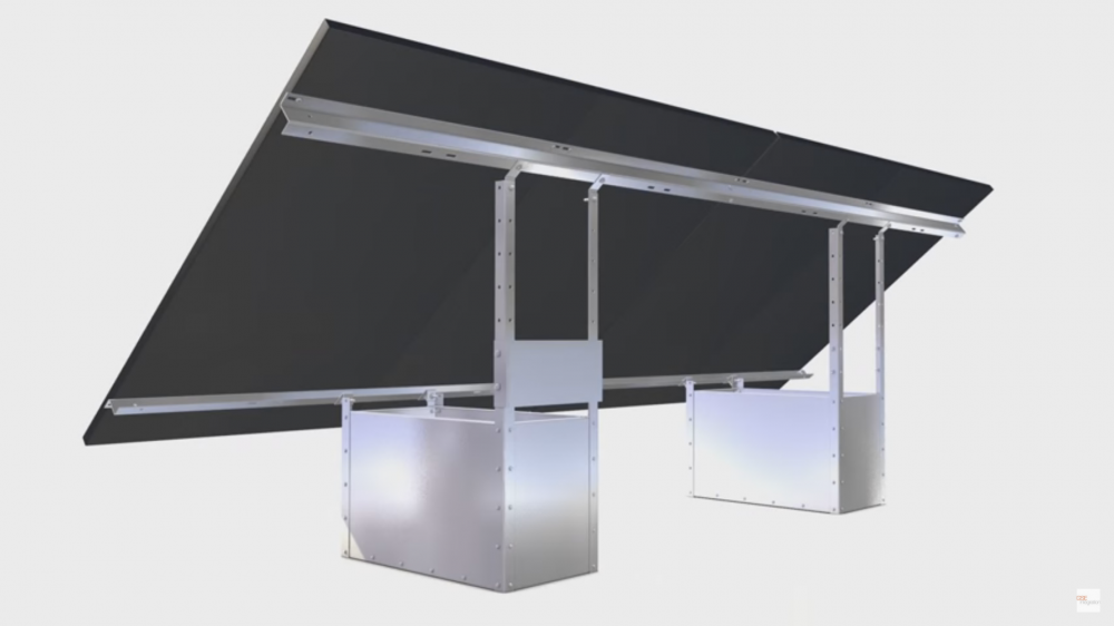 fixation au sol sans fondation a lester 1 x 2 panneaux 250w 300w solarworld. Black Bedroom Furniture Sets. Home Design Ideas