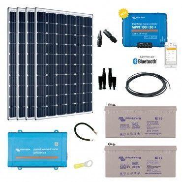 Kit solaire 1200w autonome convertisseur 230v - Kit solaire autonome 1000w ...