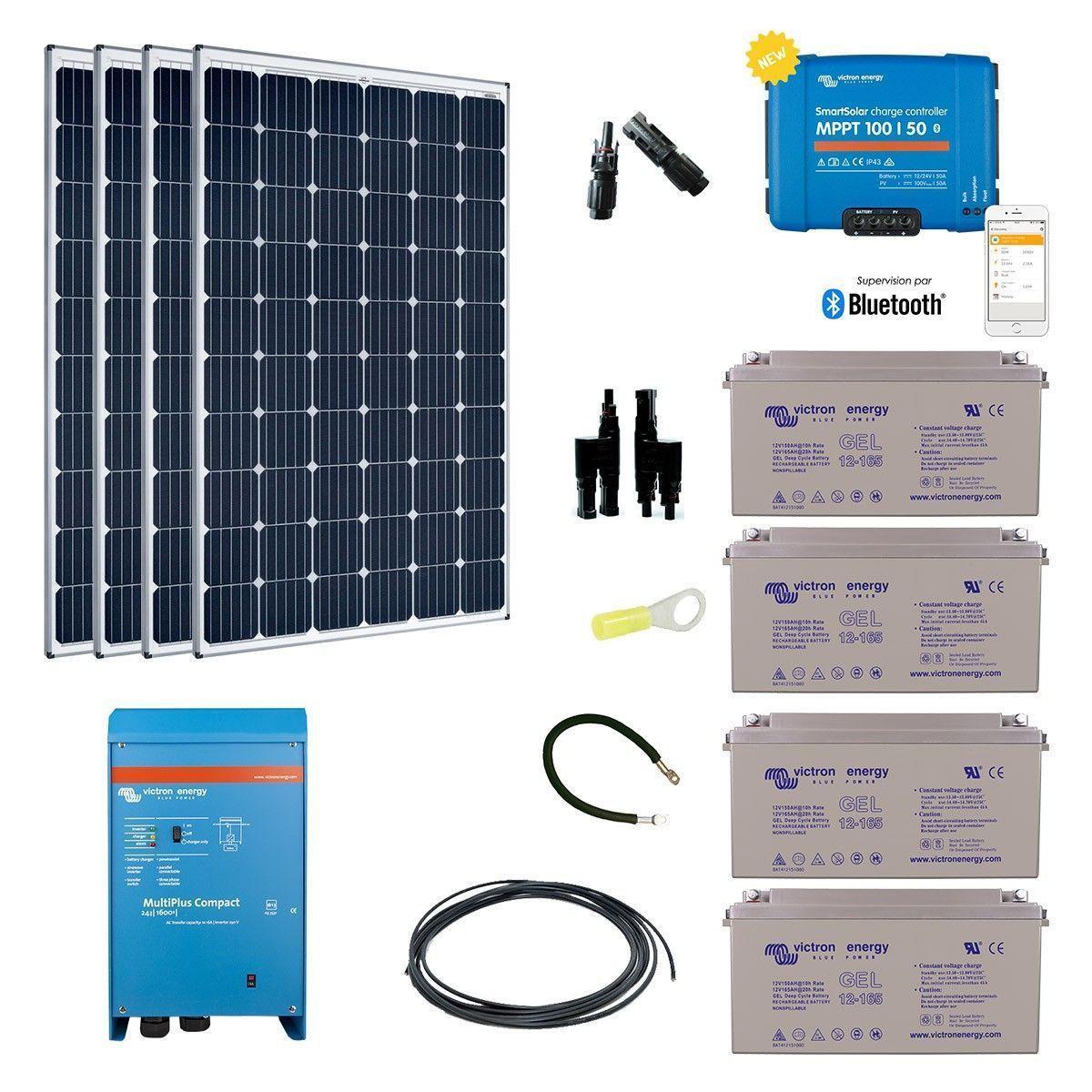 kit solaire 1200w autonome hybride premium. Black Bedroom Furniture Sets. Home Design Ideas