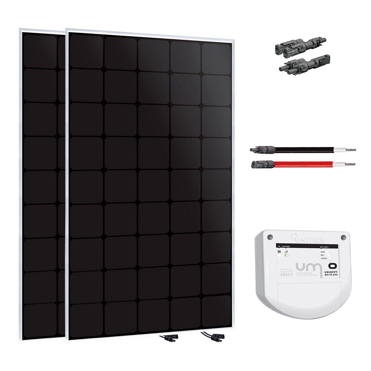 kit solaire 300w back contact 12 ou 24v uniteck version. Black Bedroom Furniture Sets. Home Design Ideas