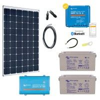 Kit solaire 300W Premium autonome + Convertisseur VE.direct 230V/800VA