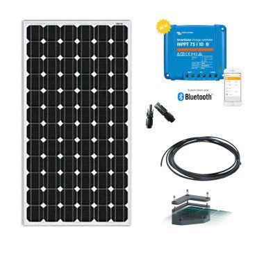 Kit solaire camping car 115W-12V avec fixation / Kit solaire Véhicule