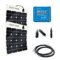 Kit solaire 100W (2x50W) flexible camping-car / fourgon