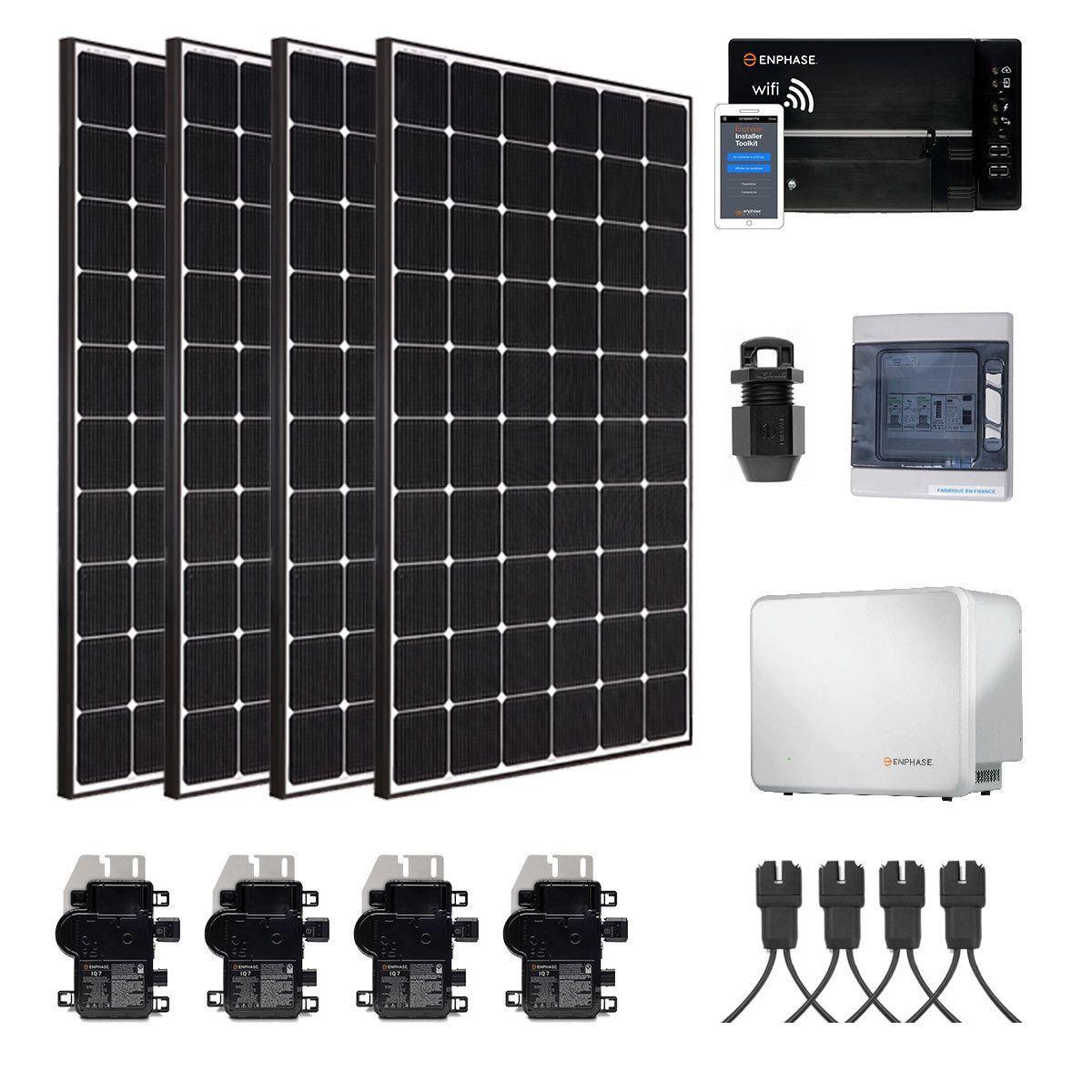 kit solaire 1320w autoconsommation avec batterie. Black Bedroom Furniture Sets. Home Design Ideas