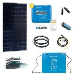 Kit solaire 160W Camping-car 12V Lithium avec fixation
