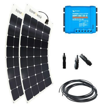 Kit solaire 220W flexible camping-car / fourgon / Kit solaire Camping-Car