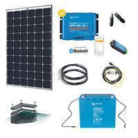 Kit solaire 280W Camping-car 12V Lithium avec fixation