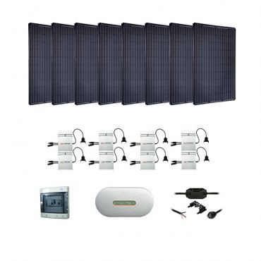 Kit solaire 2000w autoconsommation enphase plug play for Panneau solaire plug and play