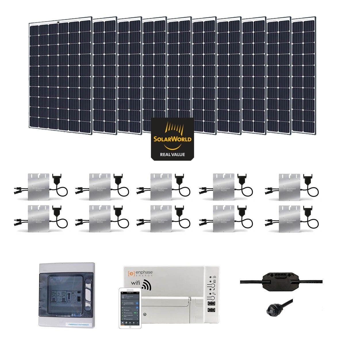 kit solaire 3000w autoconsommation enphase plug play. Black Bedroom Furniture Sets. Home Design Ideas