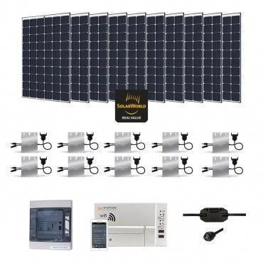 Kit solaire 3000w autoconsommation enphase plug play for Panneau solaire plug and play