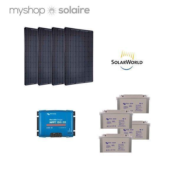 Kit solaire 1000w autonome 24 48v mono - Kit solaire autonome 1000w ...