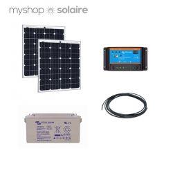 kit solaire 160w autonome 12v 2 x panneau solaire 80w solarworld 1 x batterie solaire 90ah gel. Black Bedroom Furniture Sets. Home Design Ideas
