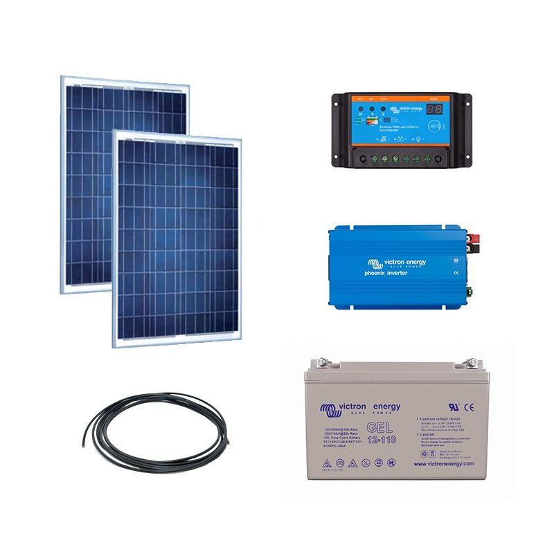 Kit solaire 200w autonome convertisseur 230v 350va - Kit solaire autonome 1000w ...