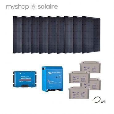 Kit solaire 2520w autonome mono convertisseur 230v 3000va - Kit solaire autonome 1000w ...