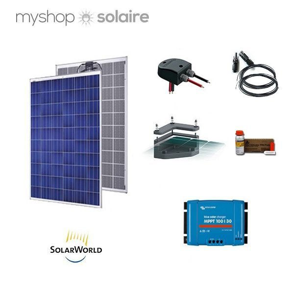 kit solaire 250w 12v camping car anti chocs. Black Bedroom Furniture Sets. Home Design Ideas