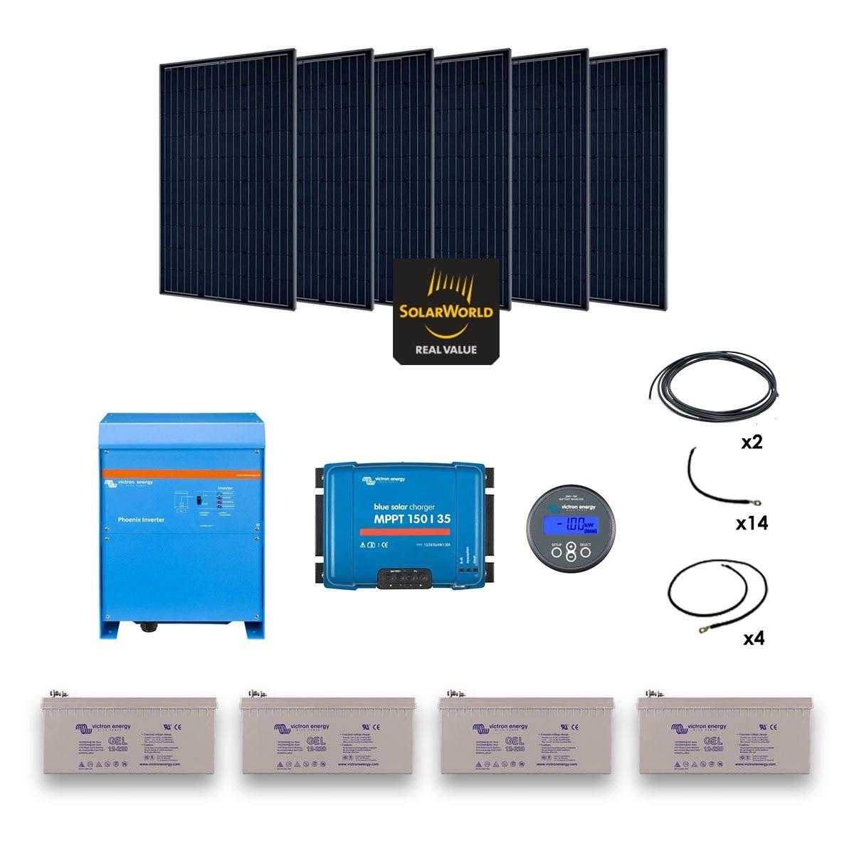 kit solaire 1680w autonome convertisseur 230v 3000va. Black Bedroom Furniture Sets. Home Design Ideas