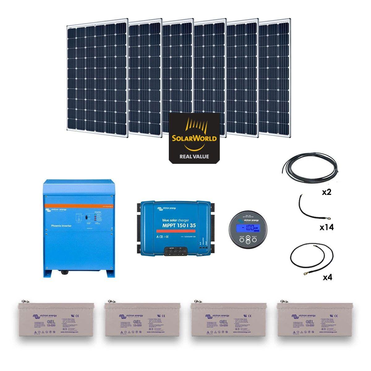 kit solaire 1800w autonome convertisseur 230v 3000va. Black Bedroom Furniture Sets. Home Design Ideas