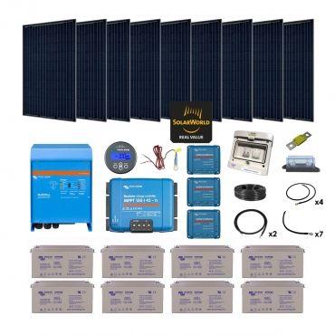 Kit solaire 2565w autonome mono convertisseur 230v 3000va - Kit solaire autonome 1000w ...