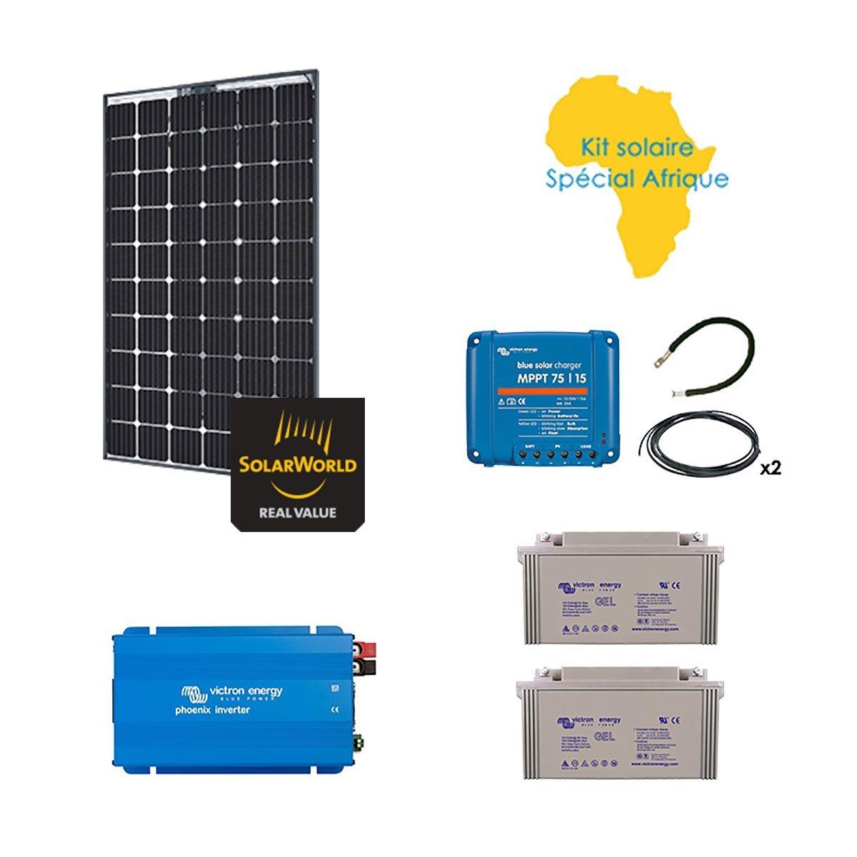 kit solaire 280w autonome afrique premium. Black Bedroom Furniture Sets. Home Design Ideas