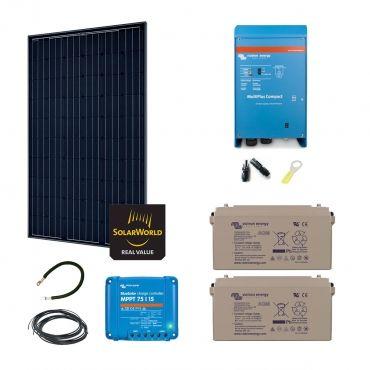 kit solaire 285w autonome hybride. Black Bedroom Furniture Sets. Home Design Ideas