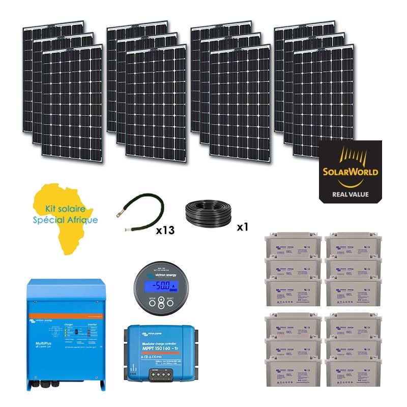 kit solaire 3120w autonome afrique premium. Black Bedroom Furniture Sets. Home Design Ideas