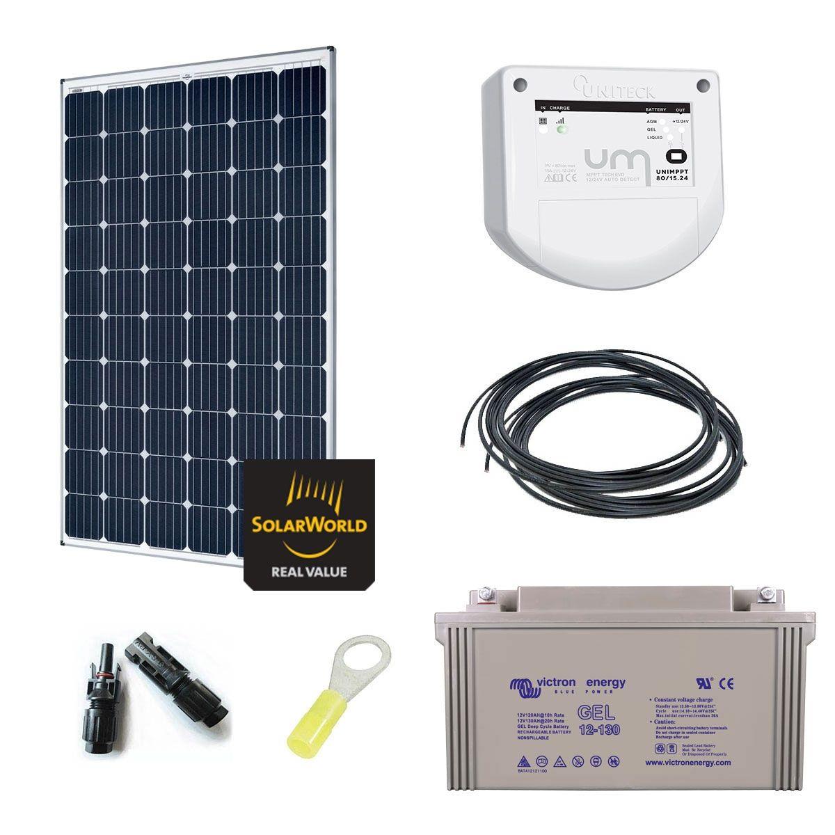 kit solaire 300w autonome 12v. Black Bedroom Furniture Sets. Home Design Ideas
