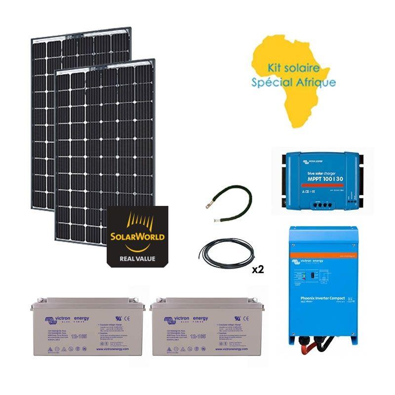 kit solaire 560w autonome afrique premium ebay. Black Bedroom Furniture Sets. Home Design Ideas
