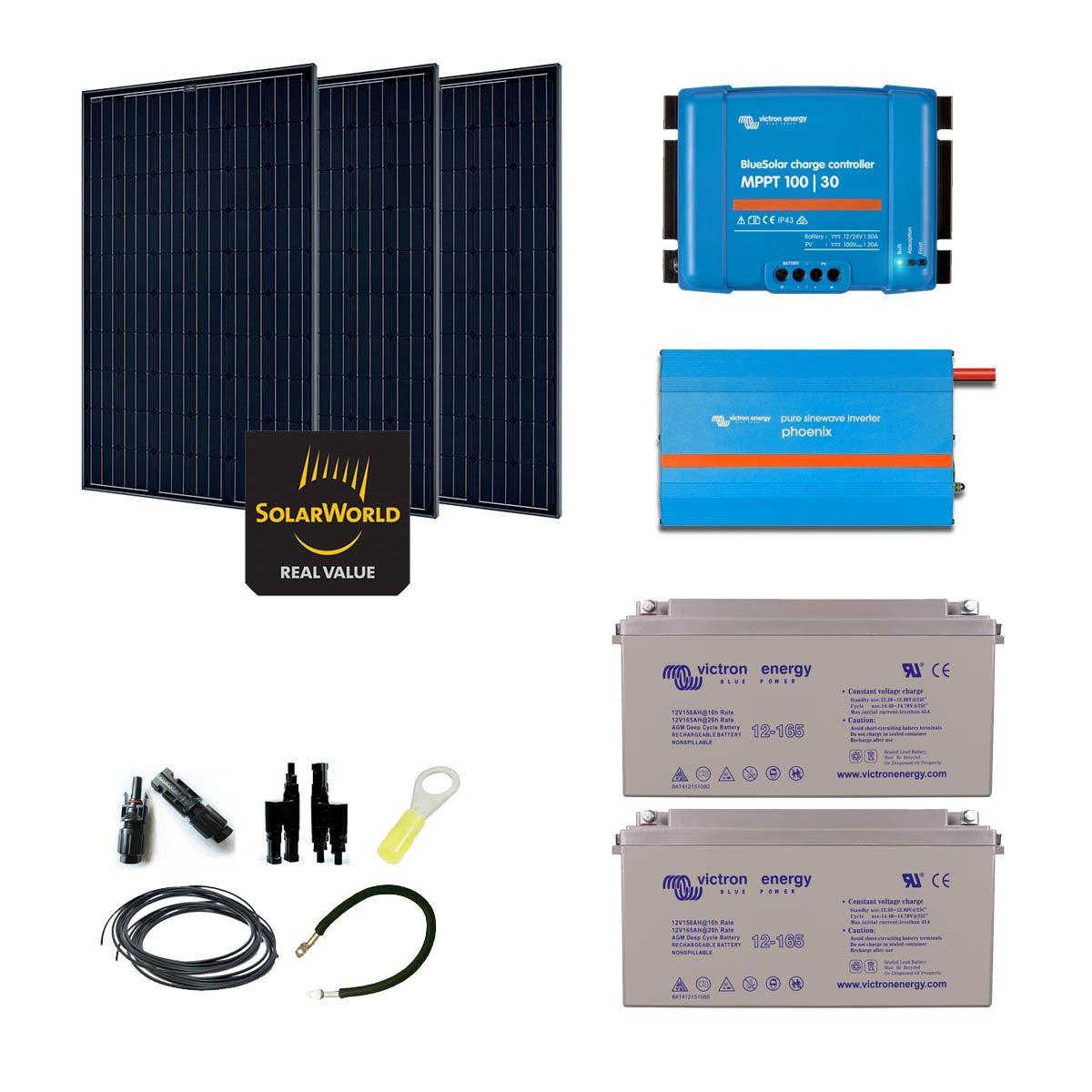 kit solaire 855w autonome convertisseur 1200va. Black Bedroom Furniture Sets. Home Design Ideas