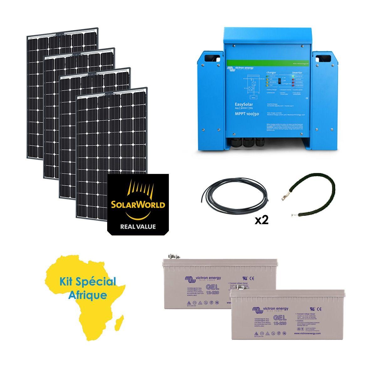 Kit solaire 1000w anti coupures sp cial afrique - Kit solaire autonome 1000w ...