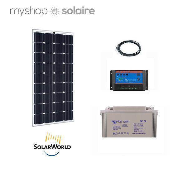 kit solaire 150w autonome 12v. Black Bedroom Furniture Sets. Home Design Ideas