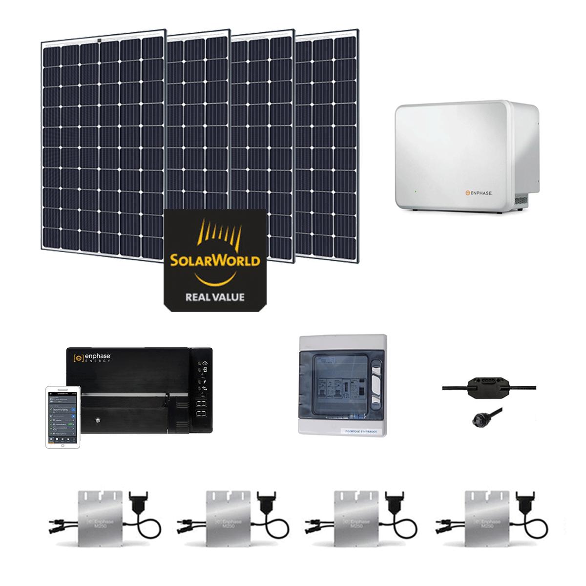 kit solaire 1200w autoconsommation avec batterie. Black Bedroom Furniture Sets. Home Design Ideas